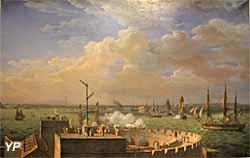 La rade de Cherbourg (huile sur toile, Louis-Philippe Crépin, 1822) - Musée national de la Marine