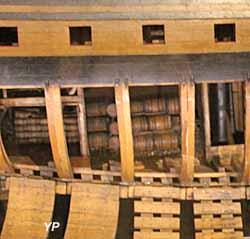 Le Sans Pareil, vaisseau de 108 canons (maquette du XVIIIe s.) - Musée national de la Marine