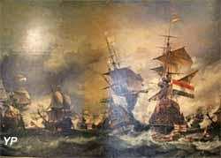 Combat du Texel, 29 juin 1694 (huile sur toile, Eugène Isabey, 1836) - Musée national de la Marine