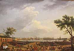 Le Port neuf ou l'Arsenal de Toulon, pris dans l'angle du Parc d'Artillerie (huile sur toile, Joseph Vernet, 1756) - Musée national de la Marine