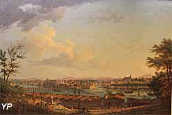 Vue de Bayonne, prise à mis-côté sur le Glacis de la Citadelle (huile sur toile, Joseph Vernet, 1760) - Musée national de la Marine