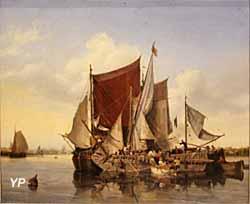 Vue de l'Escaut (huile sur toile, Ambroise Louis Garneray, 1833) - Musée national de la Marine