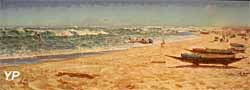 Départ de pirogues pour la pêche à Guet n'Dar, Sénégal (huile sur toile, Marius Perret, 1891) - Musée national de la Marine
