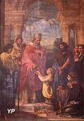 Cathédrale Saint-Louis - sainte Clotilde exhorte Clovis à embrasser le christianisme (Pierre-Louis Delaval, 1819)