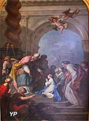 Cathédrale Saint-Louis - saint Charles en prière (Sébastien Froste, 1824)