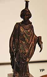 Musée de la Castre - Tyché, bronze (époque romaine)