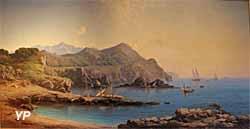 Musée de la Castre - Point de vue sur les criques de la Lègue au Brusc, huile sur toile (Vincent Courdouan, 1870)