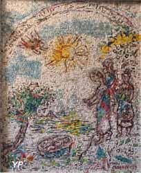 Cathédrale de la Nativité-de-Marie - Moïse sauvé des eaux, mosaïque (Marc Chagall, 1979)