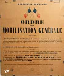 Musée Militaire - Ordre de mobilisation générale