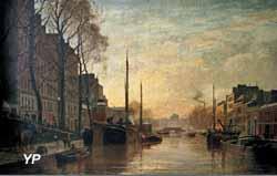 Le canal Saint-Martin à Paris (Charles Lapostolet)