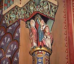 Eglise Sainte-Foy - chapiteau du choeur, décollation