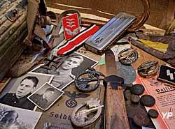 Musée Août 1944 l'Enfer sur la Seine - vitrine allemande