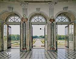 Noël à Vaux-le-Vicomte - les jardins vus du grand salon