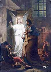 Église Sainte-Marie - La délivrance de Saint-Pierre par l'Ange, peinture à l'huile (Jean-Marie Faverjon, 1858)