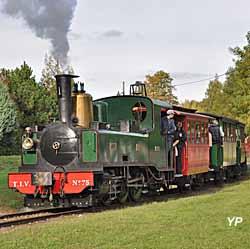 Musée des tramways à vapeur et des Chemins de fer secondaires français - train à vapeur au départ du musée (MTVS)