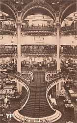Galeries Lafayette Haussmann - l'ancien escalier d'honneur