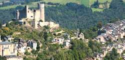 vue aérienne de Najac (doc. OT Najac)
