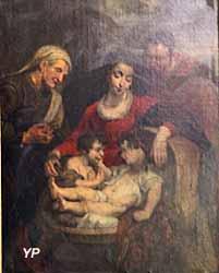 Église Notre-Dame - la Sainte Famille avec sainte Elisabeth (Pierre-Paul Rubens, 1615)