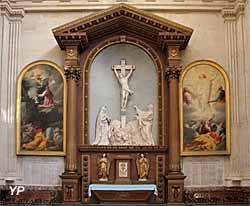 Église Notre-Dame - Christ en croix, marbre (Laurent Magnier, 1690)