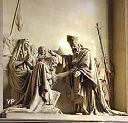 Église Notre-Dame - saint Rémi baptisant Clovis, plâtre (de Villers, 1842)