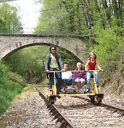 promenade sur une voie ferrée désaffectée près de Bussière-Galant