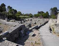Site archéologique de Glanum - rue principale