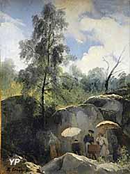 Les Peintres en forêt de Fontainebleau (Jules Coignet)