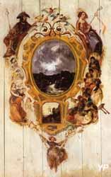 Auberge Ganne - cloison peinte (Sama)