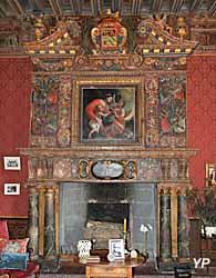 Château de l'Islette - cheminée de la grande salle