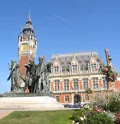 statue des Bourgeois de Calais devant l'Hôtel de ville