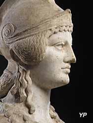 Musée Sainte-Croix - Athéna, (Ier-IInd s. ap. J.-C.), détail
