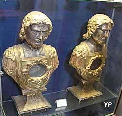 Eglise Sainte-Marguerite - bustes reliquaires - bois doré (XVIIIe s.)