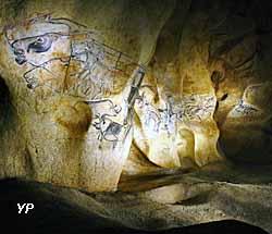 Caverne du Pont d'Arc - la fresque des lions de la Caverne du Pont-d'Arc