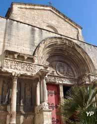 Portail de l'église abbatiale Saint-Gilles (reproduction) (B. Trouillet)