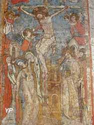 Chartreuse de Sainte-Croix - peinture de 1327 dans l'église primitive