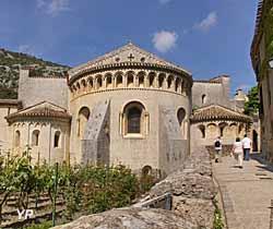 Chevet de l'abbaye de Gellone (OTI STGVH)