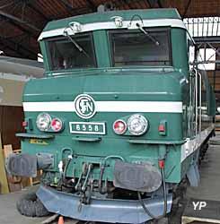 Rotonde ferroviaire - locomotive CC 6558
