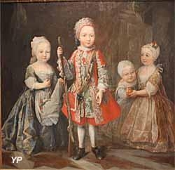 Exposition temporaire Rois & Mécènes - Portrait des enfants de Charles-Emmanuel III (Maria Giovanna Batista Clementi, dite la Clementina, 1730)