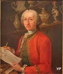 Exposition temporaire Rois & Mécènes - Portrait d'Andrea Boucheron (peintre piémontais, vers 1750)