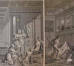 Hôtel de Cordon - Les amours de Psyché et Cupidon (papier peint, XVIIIe s.)