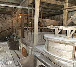 Moulin à eau de Cougnaguet - salle des meules