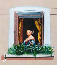 Trompe l'œil - la reine Victoria jeune d'après un tableau de Winterhalter