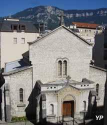 Aix-les-Bains - église anglicane Saint Swithun, façade ouest, la plus ancienne église d'Aix-les-Bains