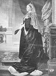 Aix-les-Bains - portrait en pied de la reine Victoria, offert au docteur Brachet (mur nord de l'église Saint Swithun)
