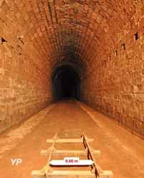 Ancienne voie à minerai de fer - tunnel ferroviaire à voie étroite
