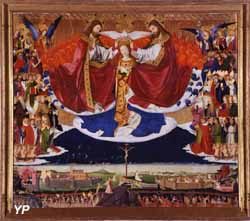 Musée Pierre de Luxembourg - Le Couronnement de la Vierge (Enguerrand Quarton) (Département du Gard)