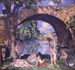 Musée Albert André - Les baigneuses sous un pont (Albert André, 1908) (Département du Gard)
