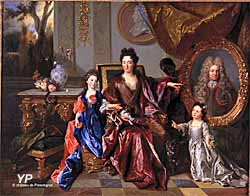 Château de Parentignat - la marquise de Noailles et ses filles (Nicolas de Largillierre)