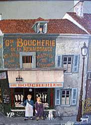 Musée des Arts Naïfs et Populaires - La boucherie de Sivard (collection Yankel) (Musée des Arts Naïfs et Populaires)