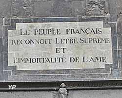 Cathédrale Notre-Dame de l'Assomption - inscription du portail Nord